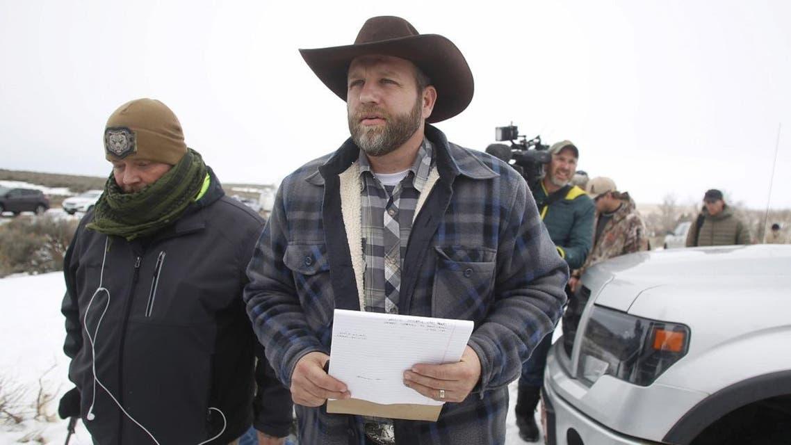 File photo of Ammon Bundy arriving to address the media at the Malheur National Wildlife Refuge near Burns Oregon. (Reuters)