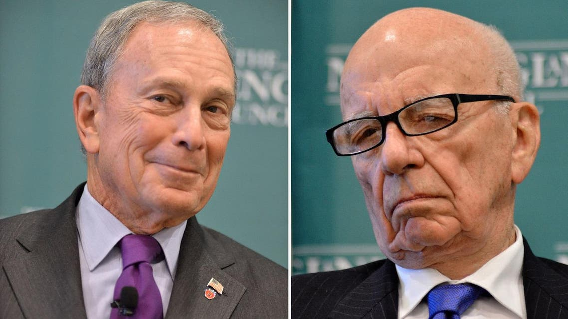 It is not the first time that Murdoch has publicly encouraged the billionaire founder of the Bloomberg financial news agency to run for president. (AP)