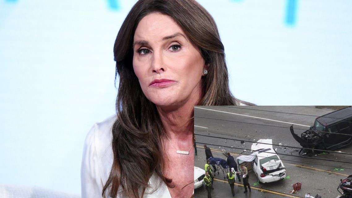 Then still known as Bruce, Jenner was driving a large SUV when it collided in Malibu last February with a smaller white car. (File photo: AP)