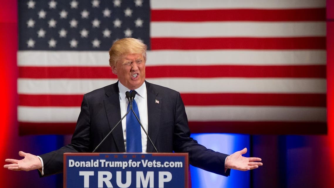 Republican presidential candidate Donald Trump speaks at a rally at Drake University in Des Moines, Iowa, Thursday, Jan. 28, 2016. (AP