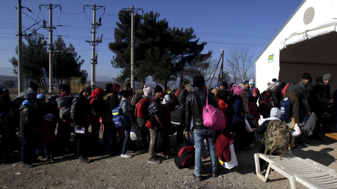لاجئون في مقدونيا اليونان