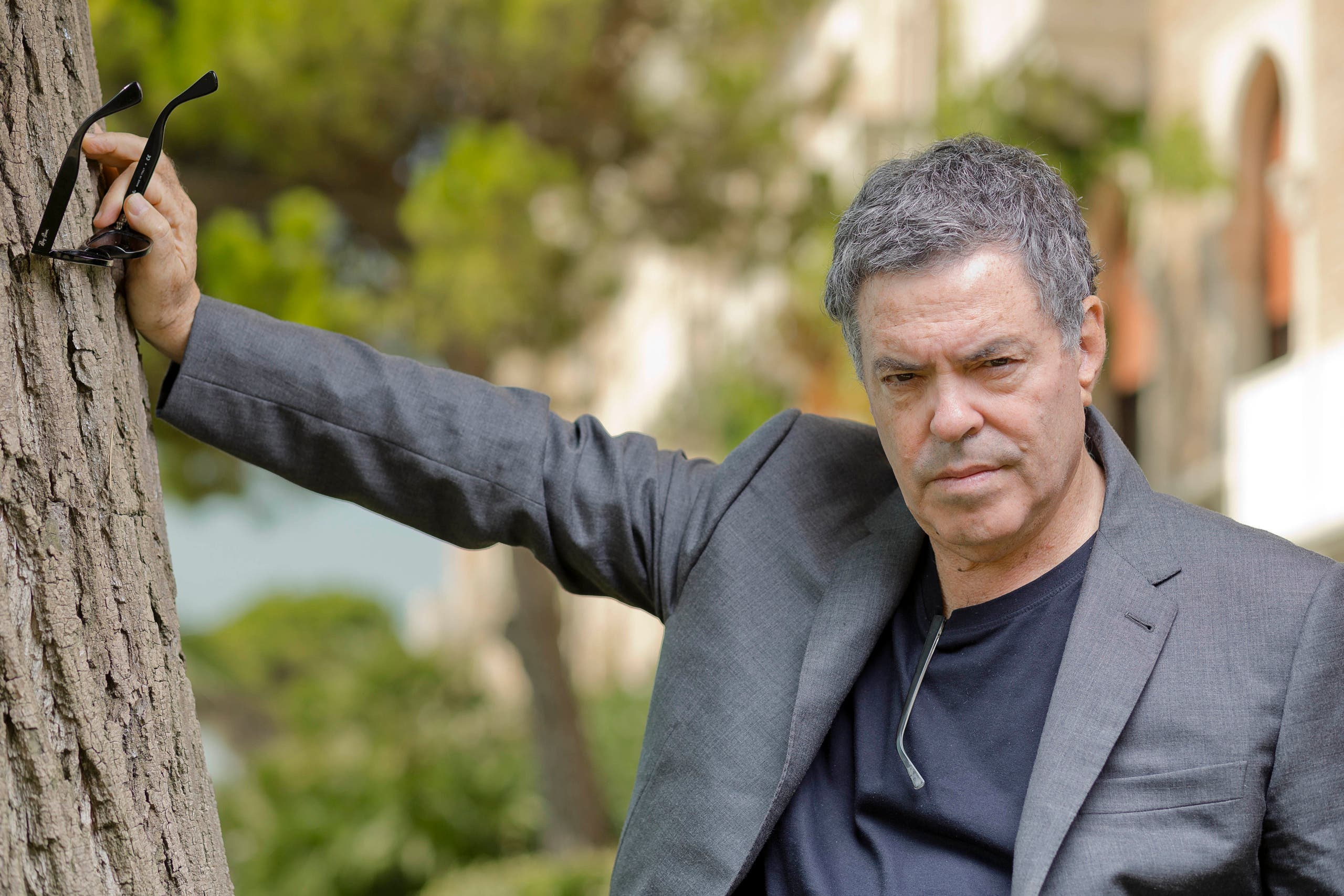 Director Amos Gitai poses for portraits at the 70th edition of the Venice Film Festival held from Aug. 28 through Sept. 7, in Venice, Italy, Wednesday, Sept. 4, 2013. (AP