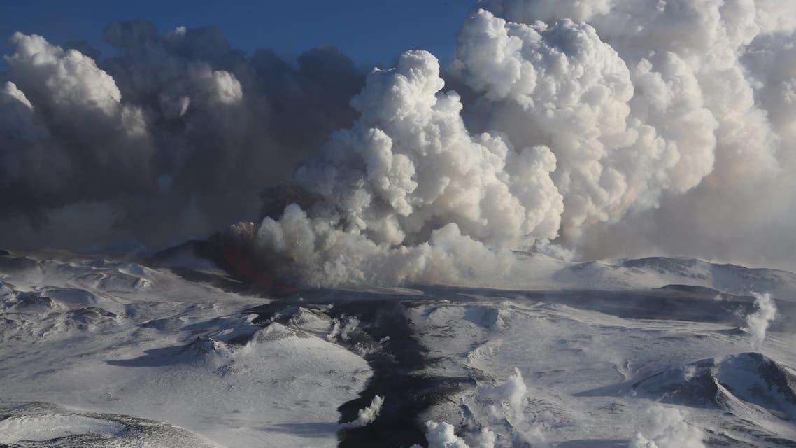 In this photo made Thursday, Nov. 29, 2012, Plosky Tolbachnik volcano erupts in Russia's Far Eastern Kamchatka Peninsula. AP