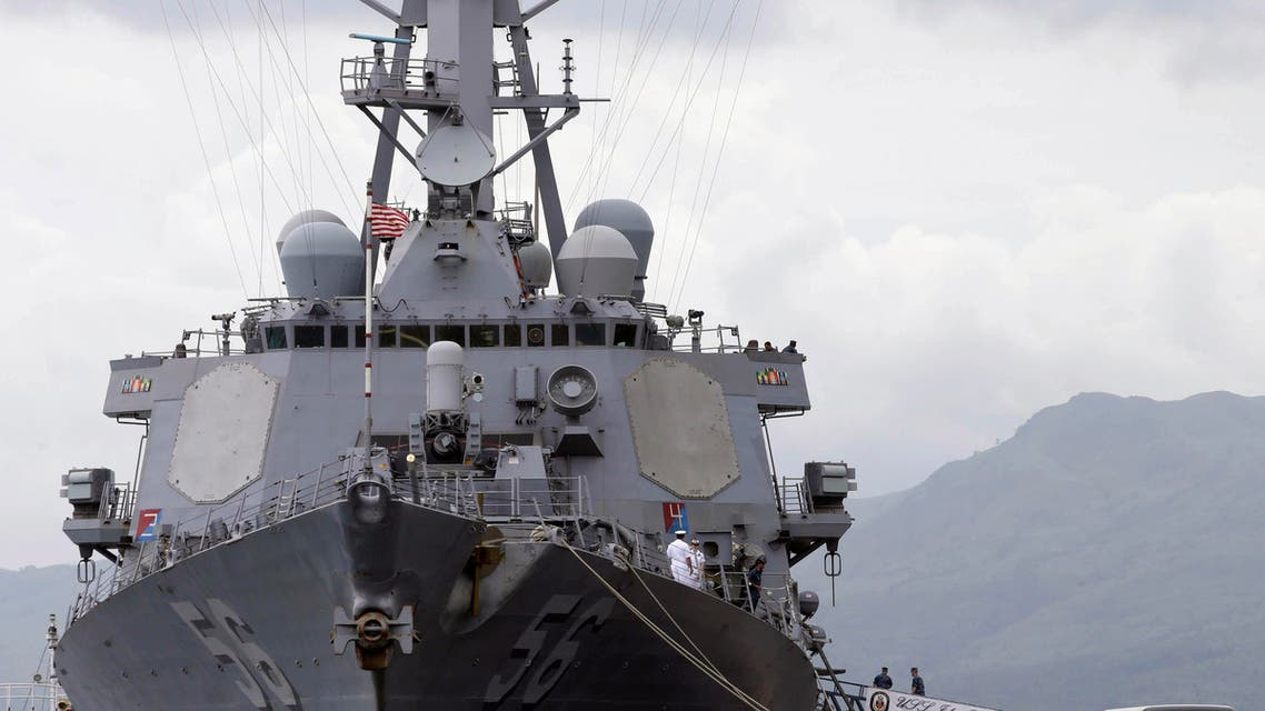 In this June 26, 2014 file photo, the U.S. Navy warship USS John McCain, an Arleigh-Burke class destroyer, is docked at the Subic Freeport to take part in the joint US-Philippines naval exercise AP