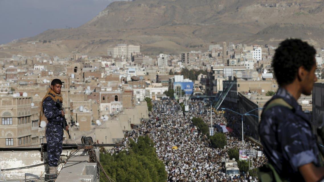عناصر من الحوثيون في صنعاء