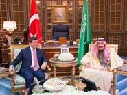 الملك سلمان يبحث مع رئيس وزراء تركيا الأحداث الإقليمية