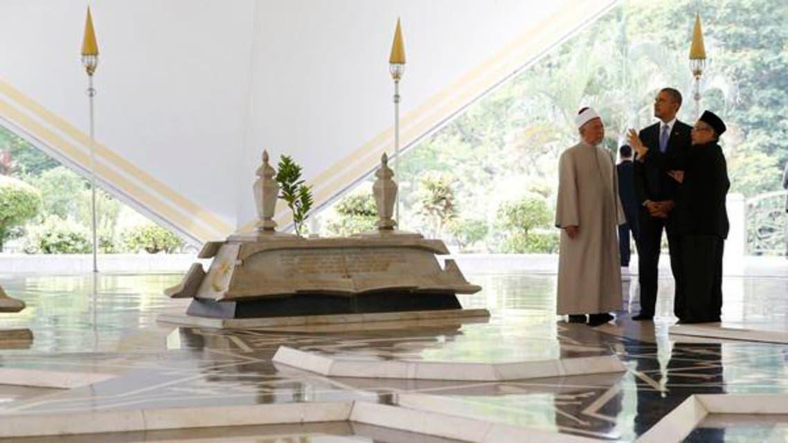 obama in masjid