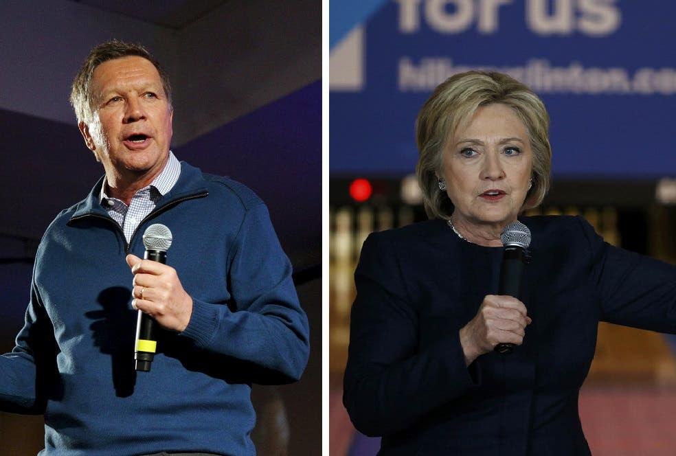 Clinton, Kasich (Reuters)