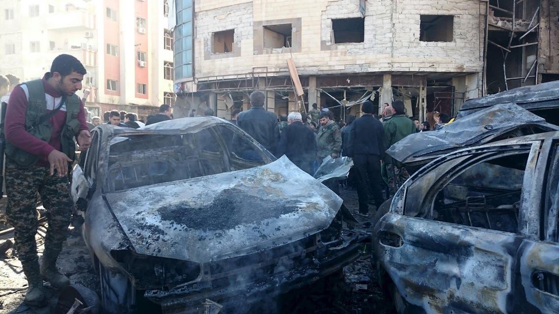 سوريا - جانب من تفجيرات حي السيدة زينب 3
