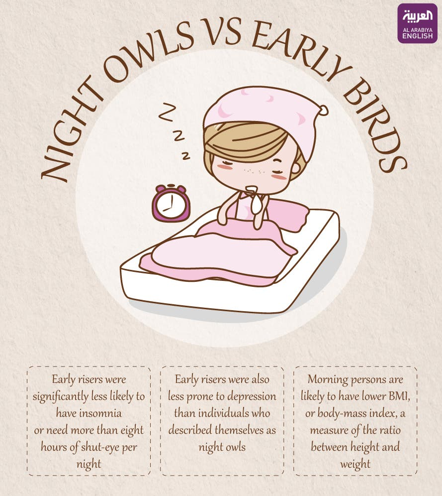 Infographic: Night owls v.s. early birds