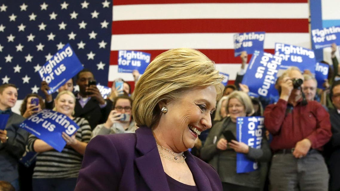 U.S. Democratic presidential candidate Hillary Clinton smiles as she arrives to lead a campaign rally at Nashua Community College, in Nashua, New Hampshire February 2, 2016. (Reuters)