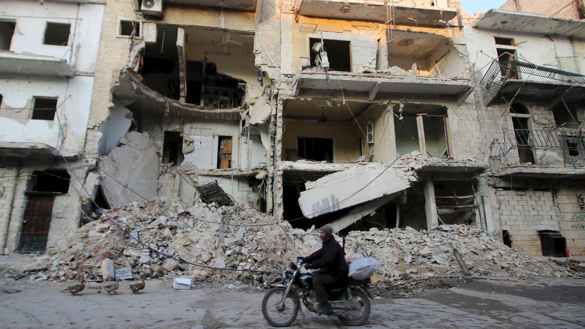الدمار في حلب (أرشيفية)