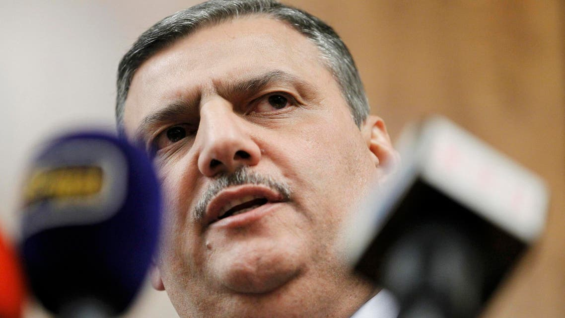 Riad Hijab, Syrian opposition coordinator for the High Negotiations Committee (HNC) attends a news conference after the Geneva peace talks were paused in Geneva, Switzerland, February 3 , 2016. REUTERS