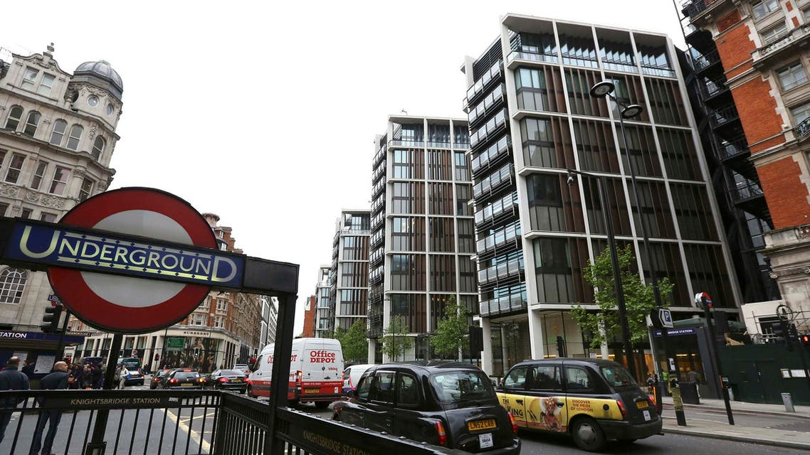 The development of One Hyde Park is seen London, May 2, 2014. REUTERS