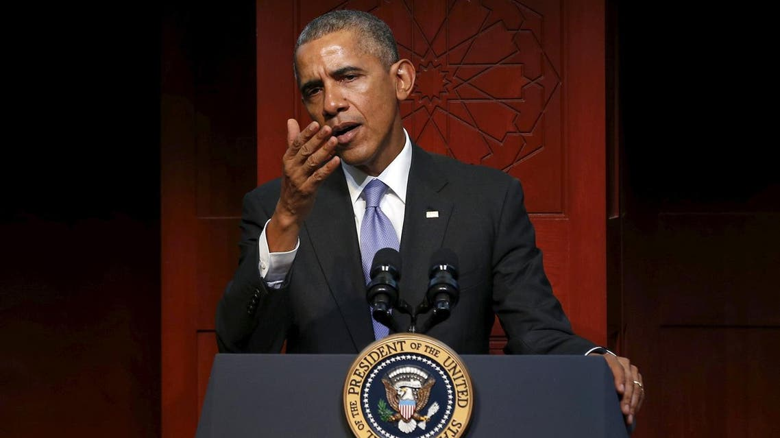 Obama delivers remarks at the Islamic Society of Baltimore mosque in Catonsville, Maryland. (Reuters)