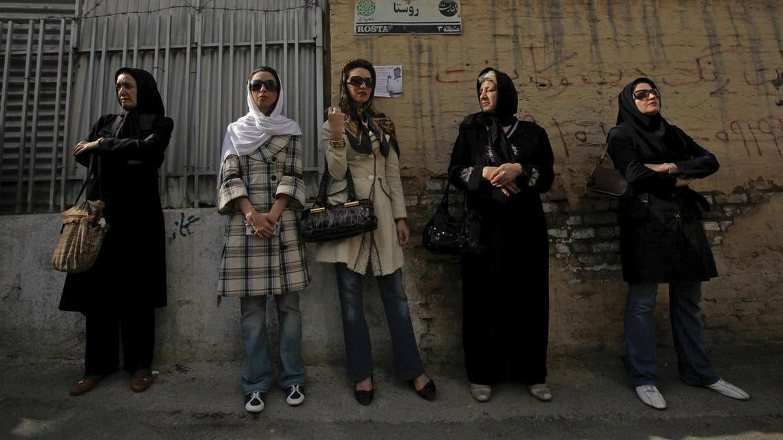 File picture of Iranian women waiting in line outside a polling station during the Iranian presidential election in Tehran. (Reuters)