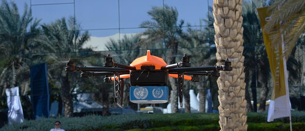 Drones for good (Photo: Peter Harrison/Al Arabiya English)