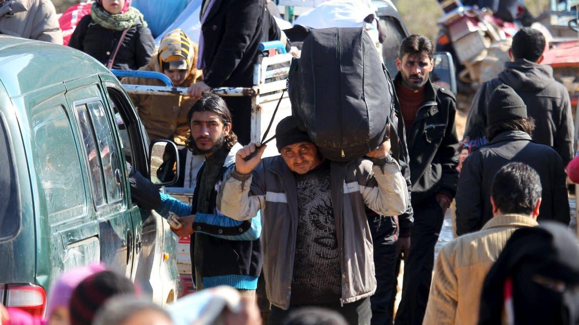 نزوح سوريا حلب حدود تركيا