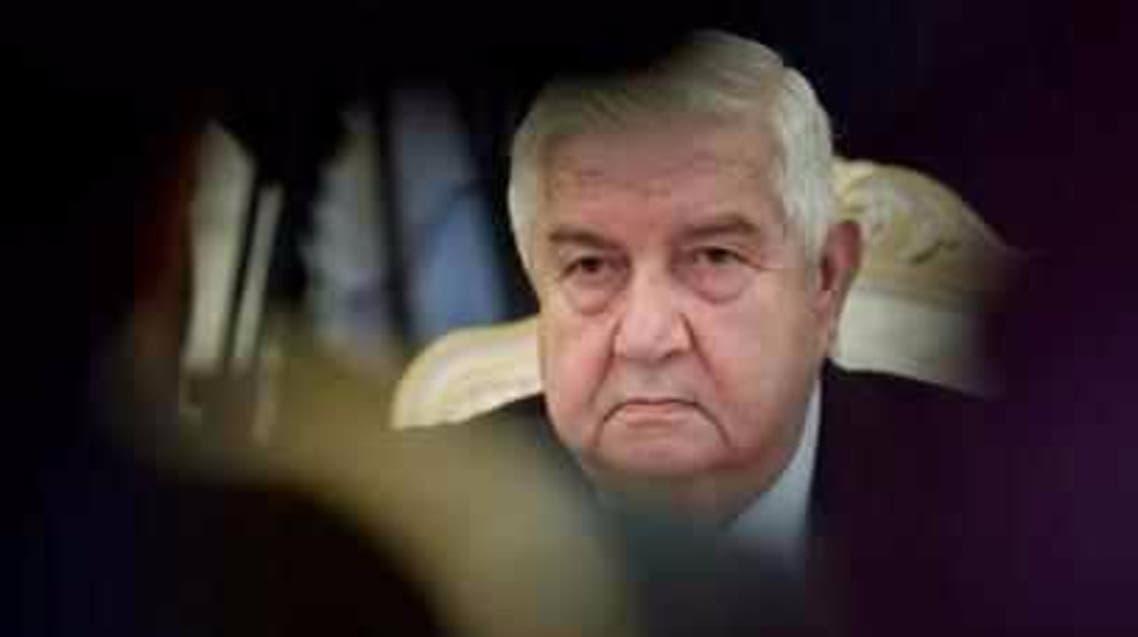 وزير خارجية النظام السوري وليد المعلم