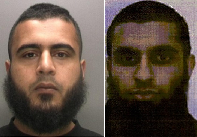 من اليمين، ساجد إسلام الملتحق مع جاك في صفوف داعش، ثم المتهم بتجنيد الاثنين، أيمن شوكت