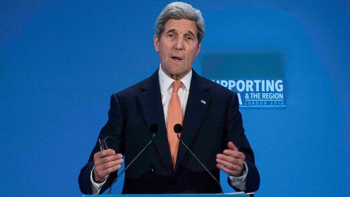 U.S. Secretary of State John Kerry speaks at the donors Conference for Syria in London. (Reuters)