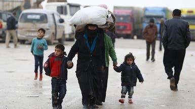 فرار 55 ألف نازح من حلب إلى الحدود التركية