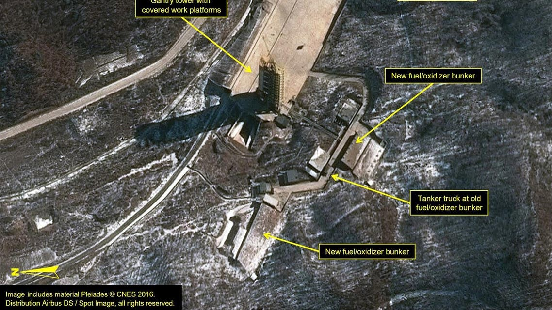 Airbus Defense & Space and 38 North satellite image of the Sohae Satellite Launching Station in North Korea. (Reuters)