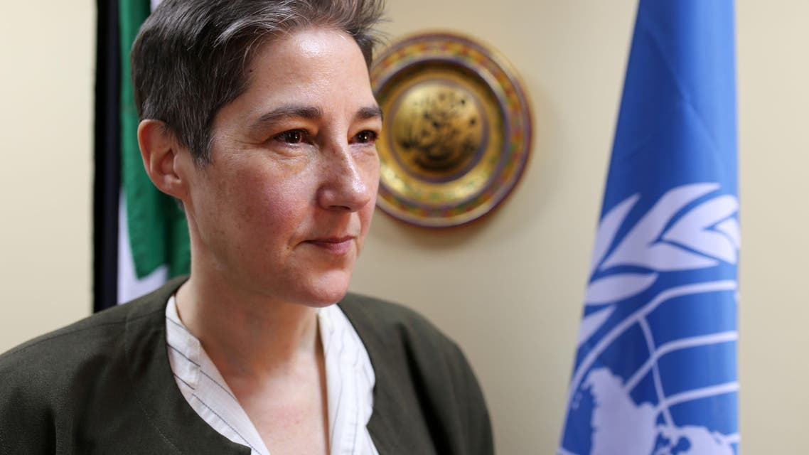 Marta Ruedas, the United Nations' humanitarian coordinator in Sudan, looks on during an interview with an AFP journalist on February 7, 2015 in the Sudanese capital Khartoum. AFP