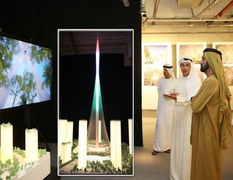 الشيخ محمد بن راشد يدشن مشروع أعلى برج بالعالم
