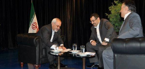 عمادي مع وزير خارجية ايران محمد جواد ظريف