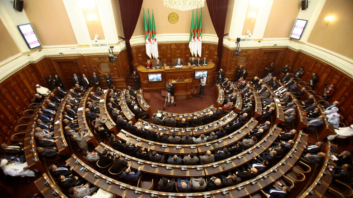 A general view of the upper parliament chamber is pictured in Algiers, Algeria February 2, 2016. REUTERS