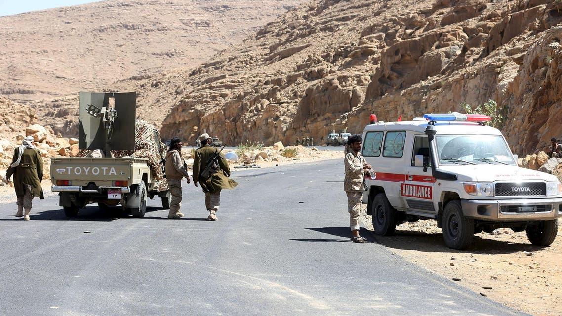 عناصر من المقاومة الشعبية اليمنية في مديرية نهم