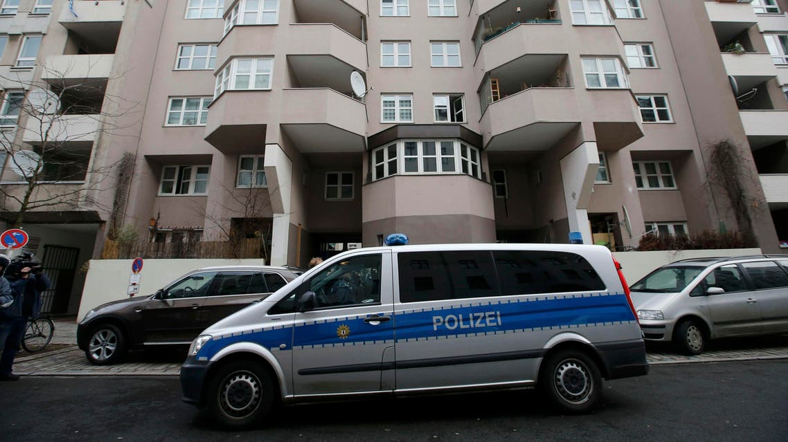 General view of the front of a house where a suspect was detained by police during a raid in the Kreuzberg district of Berlin, Germany February 4, 2016. REUTERS