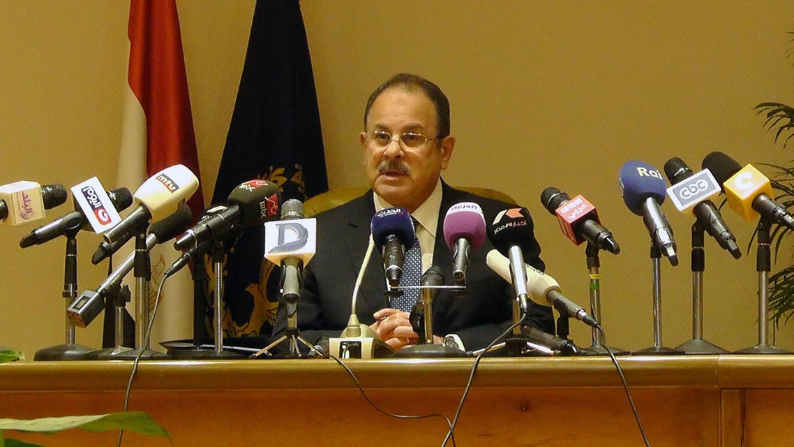 Egypt's interior minister Magdy Abdel Ghaffar speaks during a press conference on February 8, 2016 in the capital Cairo. AFP