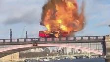 Bus film stunt explosion shakes Londoners