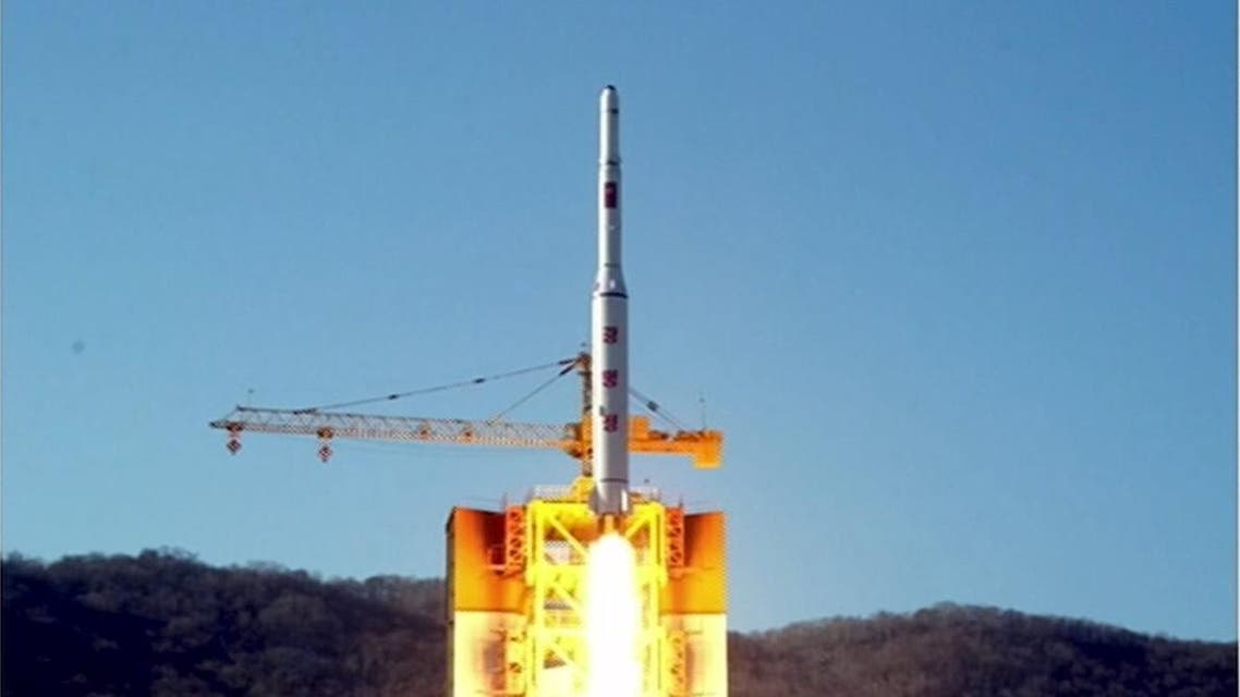 A North Korean long-range rocket is launched in this still image taken from KRT video footage, released by Yonhap on February 7, 2016. REUTERS