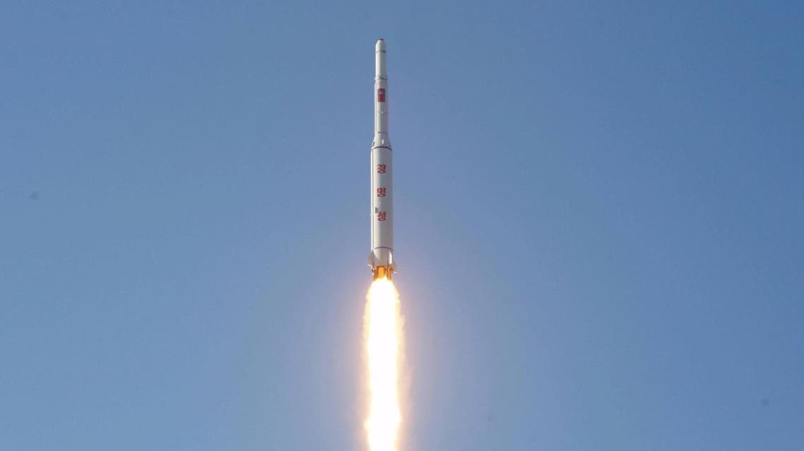 A North Korean long-range rocket is launched into the air at the Sohae rocket launch site in this undated photo released by North Korea's Korean Central News Agency (KCNA) in Pyongyang. (Reuters)