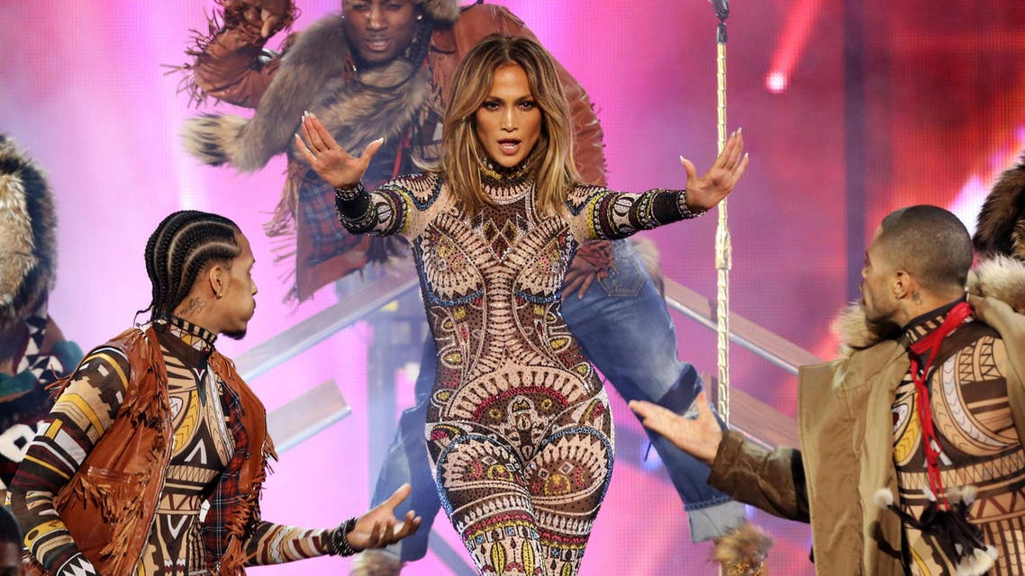 Jennifer Lopez performs at the American Music Awards at the Microsoft Theater on Sunday, Nov. 22, 2015, in Los Angeles.