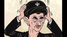 الأسد بعمامة الملالي.. كاريكاتير يغزو صفحة لأنصاره