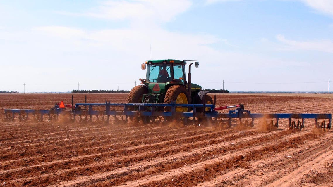 In this May 30, 2014 file photo, a West Texas cotton grower tills a field north of Lubbock, Texas. (AP)