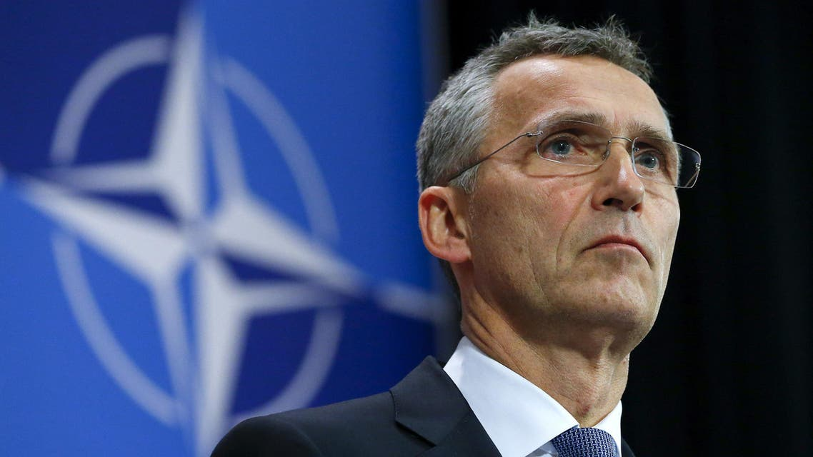 NATO Secretary-General Jens Stoltenberg holds a news conference during a meeting of the NATO foreign affairs ministers at the Alliance headquarters in Brussels in this December 1, 2015 file photo