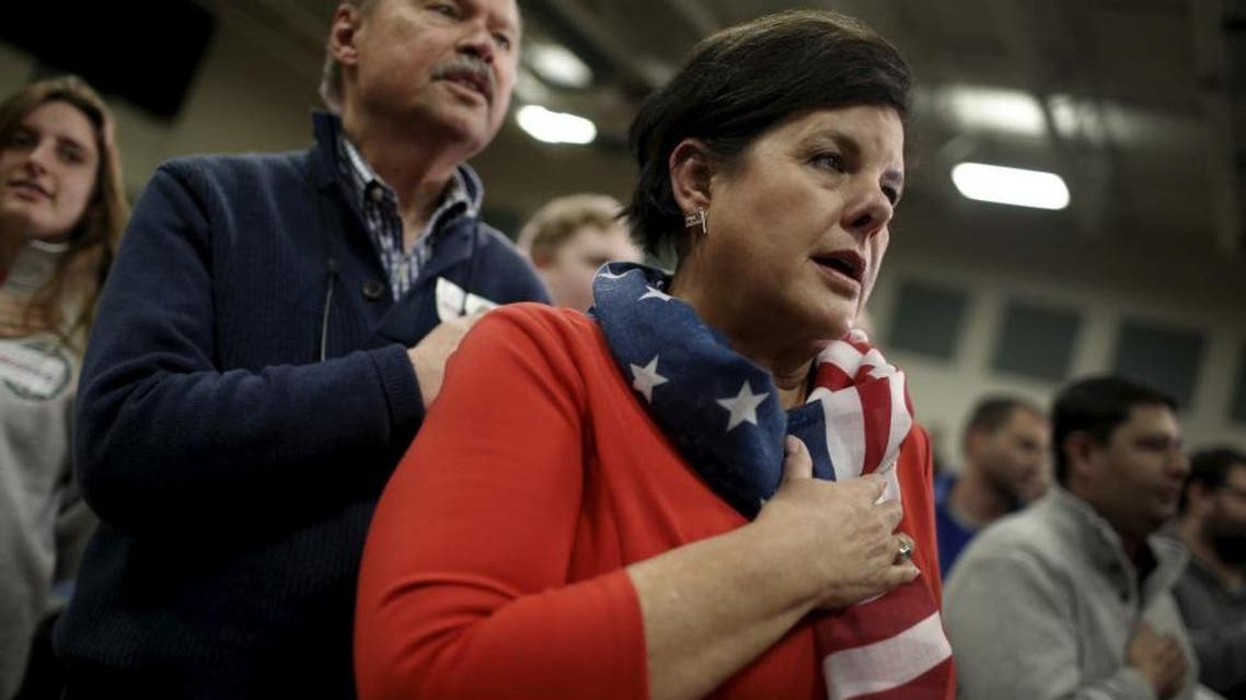 Americans show patriotism in New Hampshire