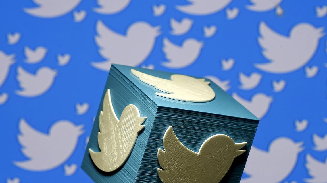 A 3D-printed logo for Twitter is seen in this picture illustration made in Zenica. (Reuters)