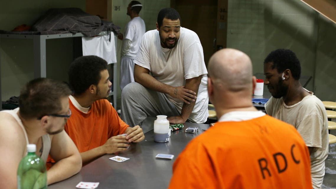 """This image released by A&E Networks shows a scene from """"60 Days In,"""" a 12-episode series about a group of innocent civilians who spent two months in an Indiana jail. (AP)"""
