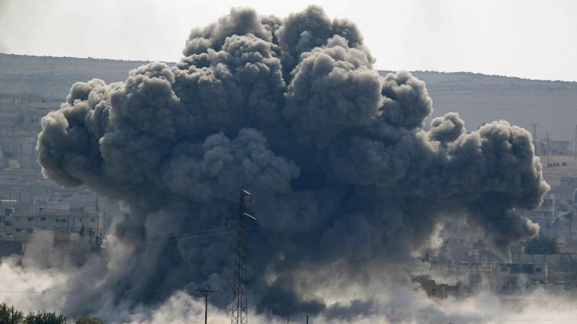 Near Mosul, three air strikes struck an ISIS tactical unit and destroyed a checkpoint, seven fighting positions, a vehicle and an assembly area, the statement said (Reuters)