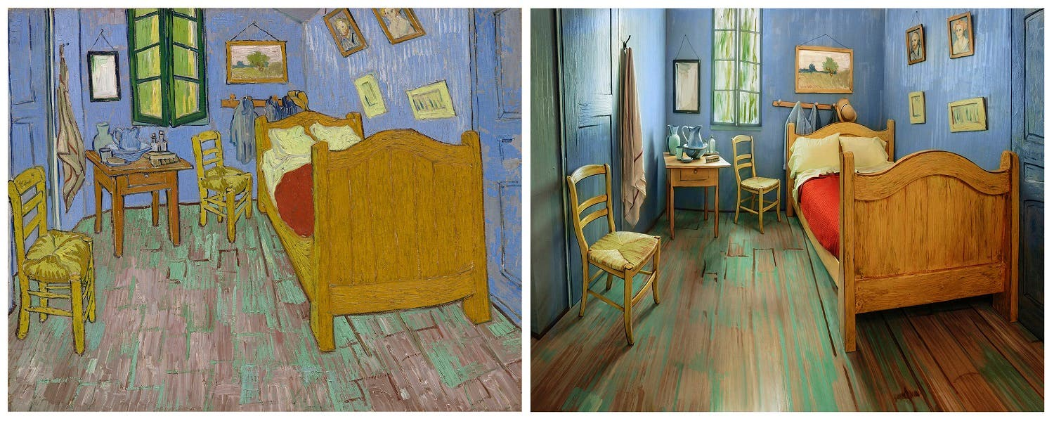 This combination  Van Gogh s bedroom recreated in Chicago as Airbnb rental   Al  . The Bedroom Van Gogh Painting. Home Design Ideas