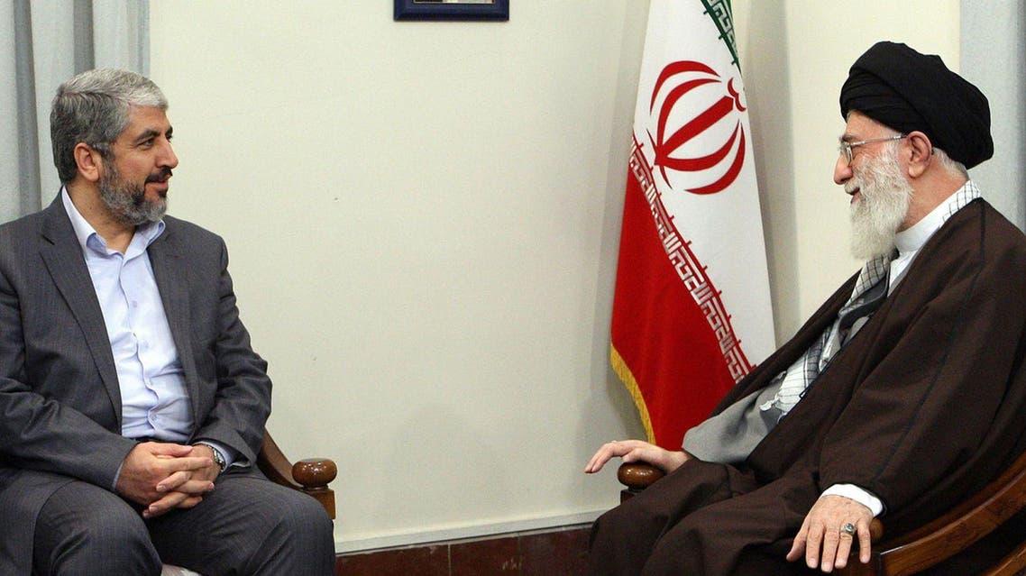 خالد مشعل وخامنئي حماس إيران