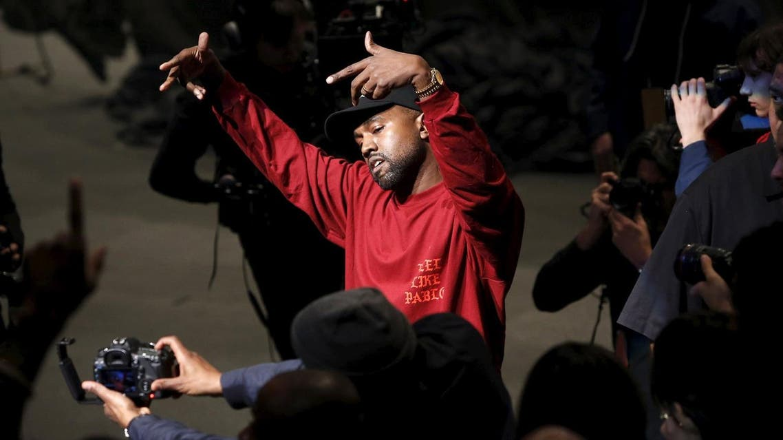 """Kanye West dances during his Yeezy Season 3 Collection presentation and listening party for the """"The Life of Pablo"""" album during New York Fashion Week February 11, 2016."""