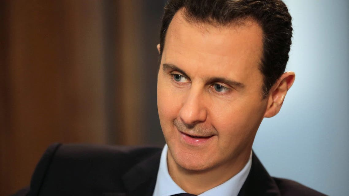Syrian President Bashar al-Assad gives an exclusive interview to AFP in the capital Damascus on February 11, 2016. (AFP)
