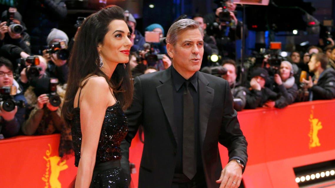 جورج كلوني وزوجته أمل علم الدين في مهرجان برلين السينمائي